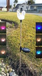 color changing solar string lights solar garden stake light hummingbird flexible garden stake with