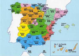 Granada Spain Map by Telephone Numbers In Spain Wikipedia