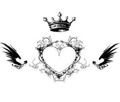 crown n heart tattoo design tattoos book 65 000 tattoos designs