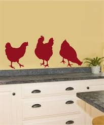 Wall Stickers For Kitchen by Chickens Vinyl Decal Wall Stickers Garden Farm Theme Kitchen Porch