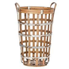 amazon com wilco home inc wilco deep round bamboo baskets 2