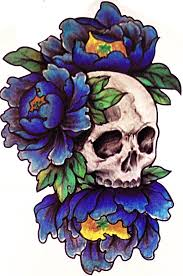 skull flower temporary tempotats