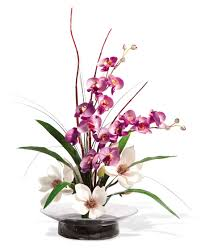 magnolias u0026 orchids silk flower arrangement office and home decor