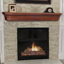 interior simple stone fireplace surrounds with wood mantel