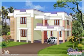 Home Design Plans In 1800 Sqft Flat Roof House Plans Design On 1600x1051 Simple Flat Roof Home
