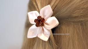 diy easy kanzashi flower tutorial 5 petals idunn goddess
