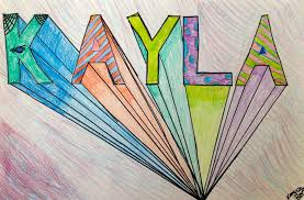 one point perspective block letters sms 6th grade art with miss a