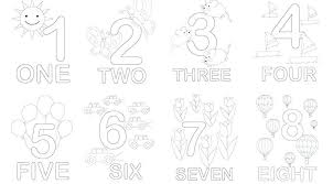 numbers coloring pages kindergarten number coloring pages ing ing s coloring pages for kindergarten pdf