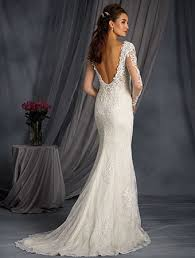 alfred angelo vintage lace wedding dresses lace fit and flare wedding dress with length sleeves