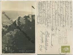 Neues Schloss Baden Baden Historische Ansichtskarten Baden Baden 03