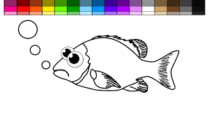 learn colors kids color sad fish coloring