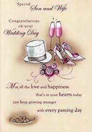 Wedding Greeting Card Verses Second Nature Son And Wife Wedding Day Cards U0027 Poetry In Motion