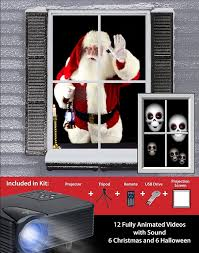 mr christmas light show christmas virtual santa kit with other christmas and halloween