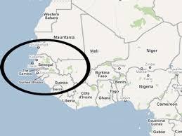 africa map senegal senegal map africa