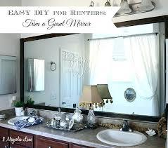 bathroom mirror trim ideas mirror borders mirror borders bathroom framed bathroom mirror mirror