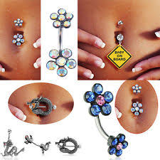dangle belly button rings ebay