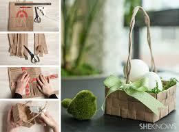 Diy Easter Basket Upcycled Grocery Bag Easter Basket