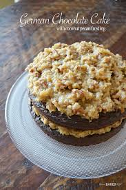 german chocolate cake with coconut pecan frosting sweet baked life