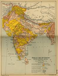 India Maps by Map Of India 19th Century