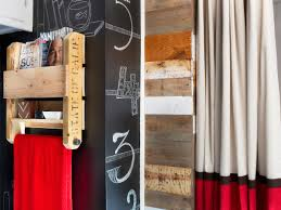 turn shipping pallets into bathroom storage shelves hgtv