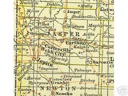 missouri map cities jasper county missouri genealogy history maps with joplin