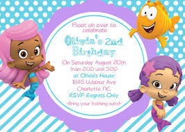bubble guppies invitation template request a custom order and