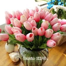 artificial flower home decor aliexpress com buy new 20pcs lot tulip artificial flower 2017 pu