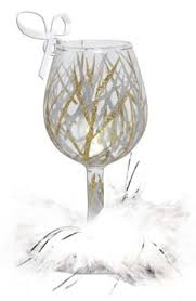 wine glass ornament tinsel home