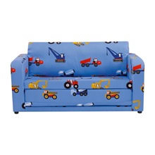 Childrens Sofa Bed In Blue Toy Trucks Kids Beds Cuckooland - Churchfield sofa bed company