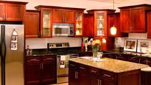 kitchen ideas with cherry cabinets the wonderful look of kitchen design ideas cherry cabinets