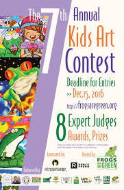 7th annual frogs are green kids art contest frogs are green