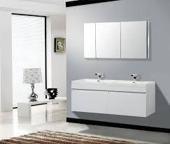 mid century modern bathroom bathroom with black vanity moen