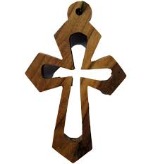 wood crosses buy open olive wood cross necklace with leather cord holyland gifts