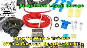 how to wire a caravan socket electrics using a special relay box