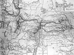 Union Pacific Railroad Map Passengers Building The First Transcontinental Railroad Dpla Omeka