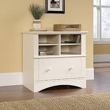 white antiqued l shaped corner desk with included hutch