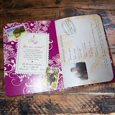 Thailand Wedding Invitation Card Passport To Love Booklet Travel Wedding Invitation By Ditsy Chic