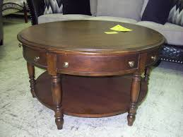 coffee table large size round wooden coffee table with storage