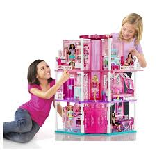 barbie dream house doll houses with furniture girls playhouse toys