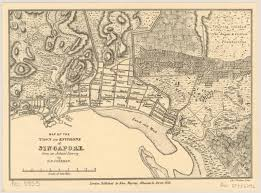 Map Of Singapore Map Of The Town And Environs Of Singapore From An Actual U2026