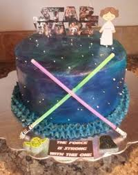 star wars themed cake for a baby shower i like the baby boy on