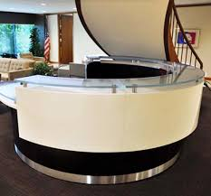 Curved Reception Desk Kubist Reception Desk Arnold Contract