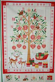 makower traditional metallic christmas tree advent calendar panel