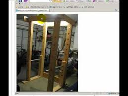 Diy Wood Squat Rack Plans by How To Build A Homemade Power Rack Out Of Wood And Pipe Youtube