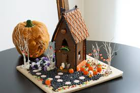halloween decorated houses how to decorate a halloween gingerbread house allrecipes dish