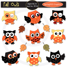 cute owl halloween clipart collection