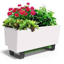 Watering Vertical Gardens - glowpear mini bench self watering wall mounted planter box