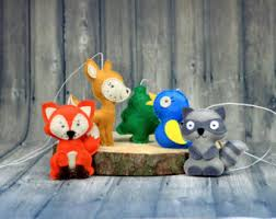 jungle animals felt ornaments safari baby shower zoo animals