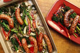 rachael ray roasted broccoli roast broccolini or broccoli rabe with sausages rachael ray