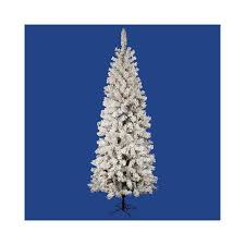 buy vickerman co flocked pacific pine 7 5 u0026 39 white artificial